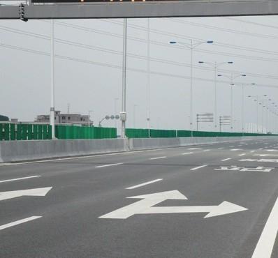 交通标线直行右转箭头
