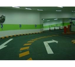 广州地下停车场出入口交通标线